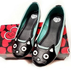 🎉Modcloth Tuk Mint Suede Cat Round Toe Flats🎉
